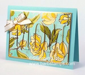 VIDEO on my blog for this gorgeous eclipse card using the Springtime Foils Sale-a-bration Specialty Designer Series Paper. Place a $50 order in my store and earn this paper FREE. www.barbstamps.coom #stampinup #springtimefoils #eclipse