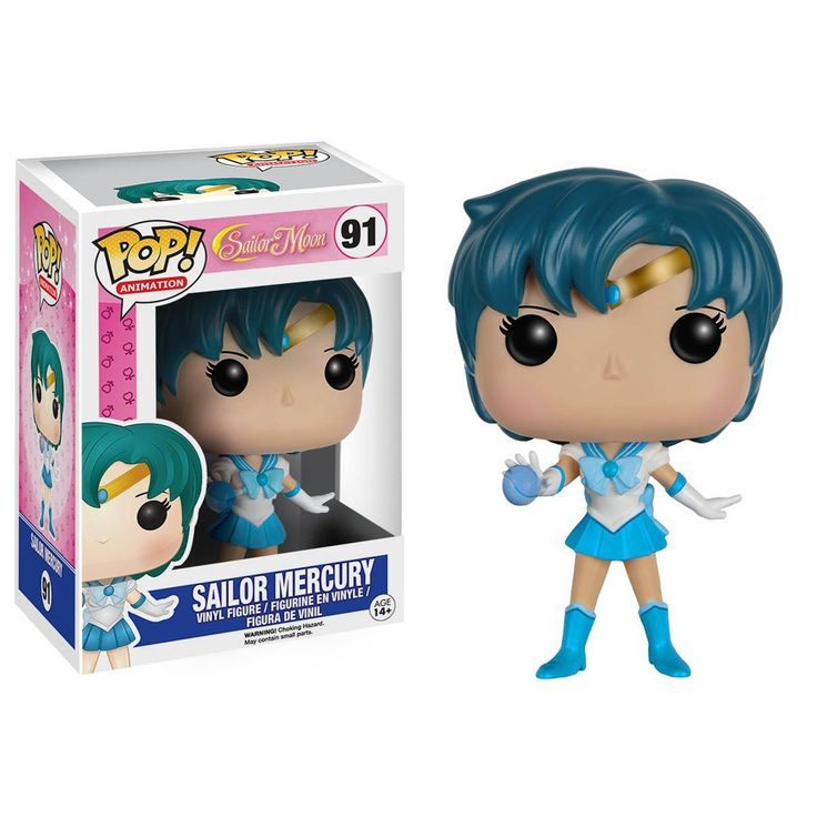This is a Funko Sailor Moon POP Sailor Mercury Vinyl Figure. Standing 3.75 inches tall, the Mercury POP Vinyl figure is super cute! It's great to see that the Sailor Moon characters finally got their