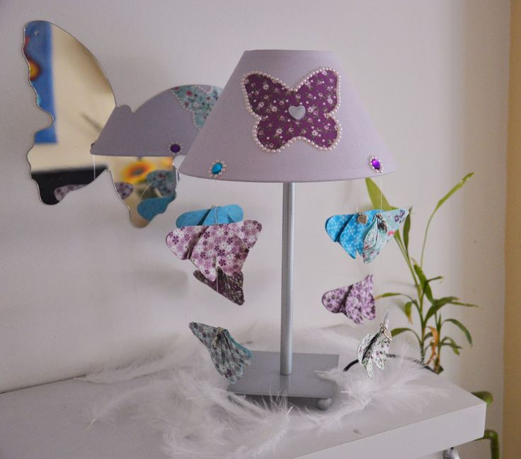 12 best lampe chevet petite fille images on pinterest petite fille lamps and butterflies. Black Bedroom Furniture Sets. Home Design Ideas