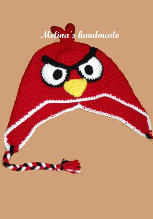 Handmadfe crochet angrybird