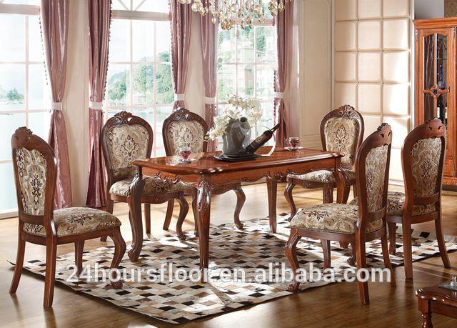 royal luxury conjunto de muebles de comedor de madera clsica estilo europeo juego de comedor mesa de comedor y sillas
