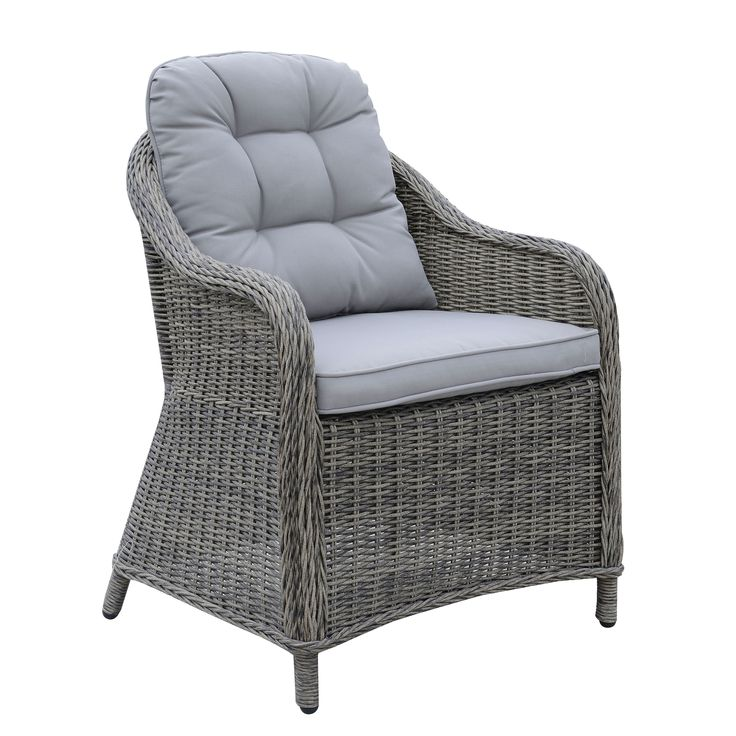 Furniture of America Selien Contemporary Outdoor Wicker Arm Chair