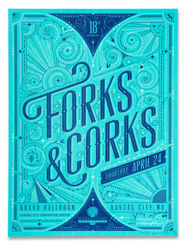 Forks & Corks 2014 by Willoughby Design
