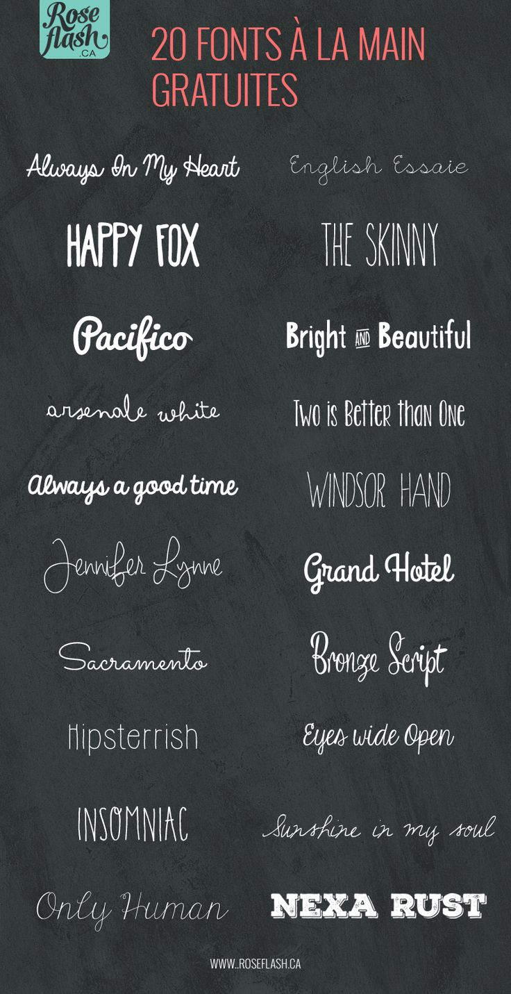 20 fonts à la main gratuites