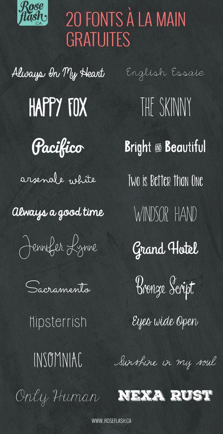20 fonts à la main gratuites!