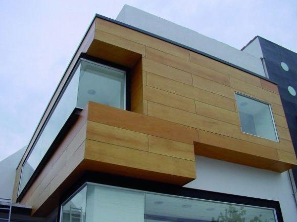 Fassadengestaltung stein  Die besten 25+ Fassadenverkleidung holz Ideen nur auf Pinterest ...