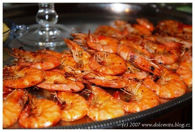 Silvestrovské krevety