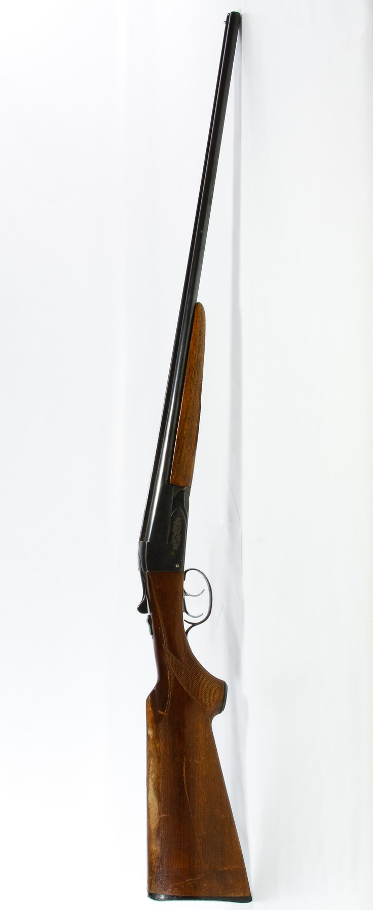 Lot 363: Savage Arms Model B .410ga. Double Barrel Shotgun (no serial #); Top break side by side double barrel shotgun