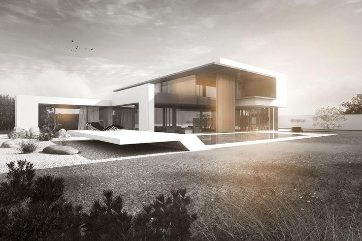 kundenprojekt f r ein modernes architektenhaus bei berlin mit flachdach und 1 5 geschossen in. Black Bedroom Furniture Sets. Home Design Ideas