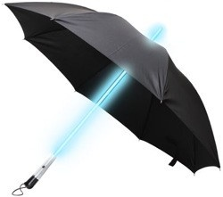 Light saber umbrella for when its dark outside