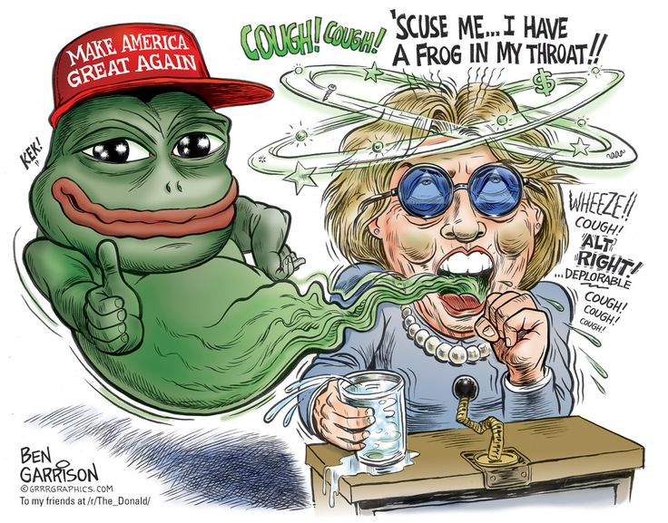 The Frog in Hillary's Throat | GrrrGraphics on WordPress grrrgraphics.wordpress.com1400 × 1099 GRRRGRAPHICS . COM To my friends at / r / The Donald /