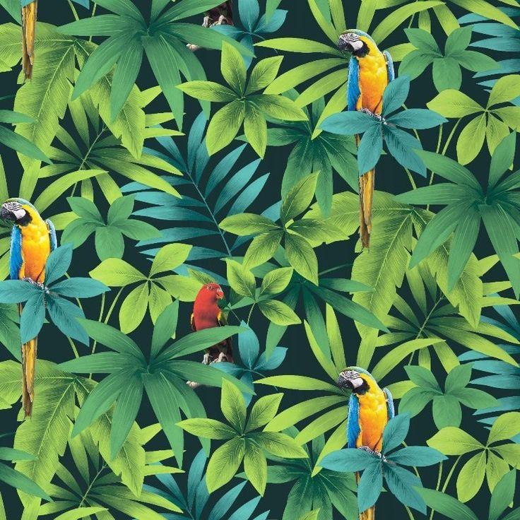 papegaai vogel dieren tropisch behang xx5x 32,95 eu, zwaar papier
