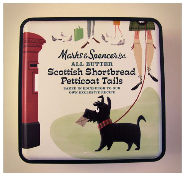 cute Marks and Spenser cookie tin. anyone know who the illustrator is?