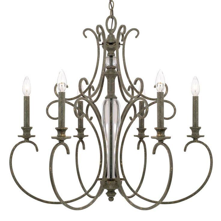 Capital Lighting 417761 Everleigh 6 Light 1 Tier Chandelier French Greige Indoor Lighting Chandeliers