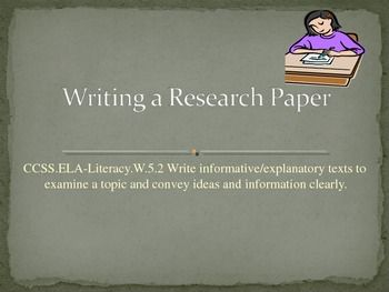 Writing research paper powerpoint elementary