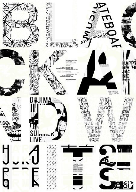 type: Design Inspiration, Graphic Design, Poster Design, Masayoshi Kodaira, Black And White, Graphic Posters, Design Typography, Black White