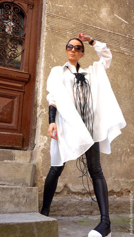 Купить Рубашка Light Cotton - белый, белая рубашка, рубашка женская, летняя туника, туника