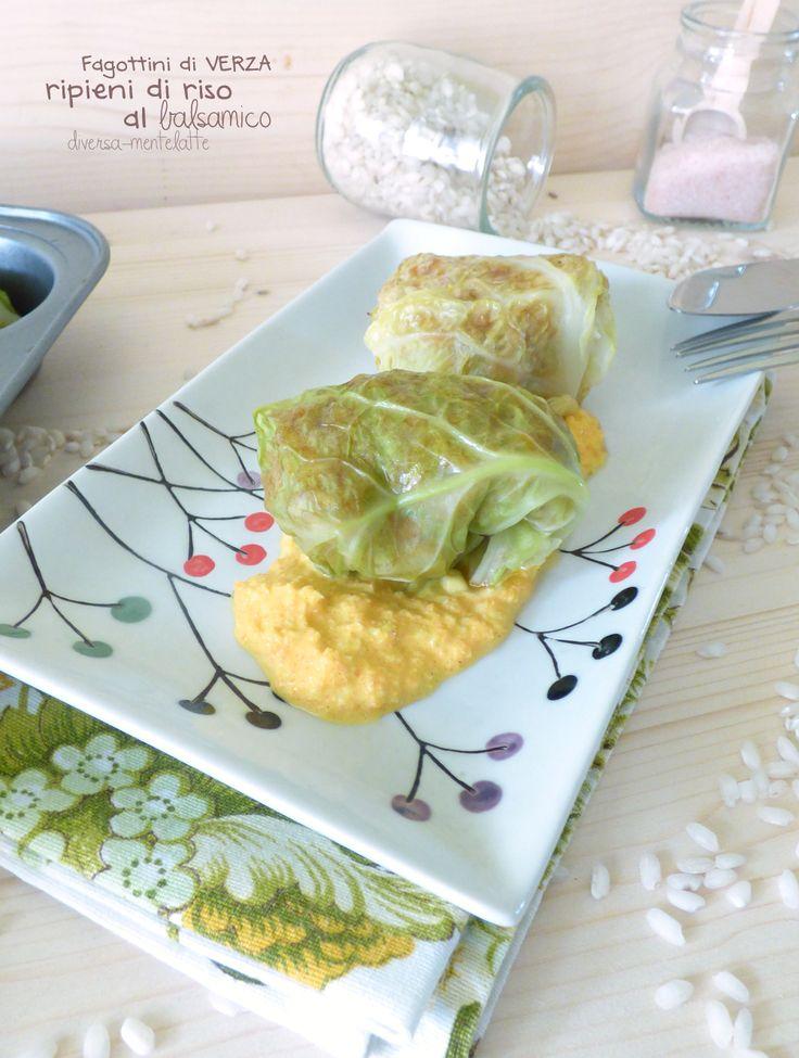 fagottini di #verza con riso al balsamico