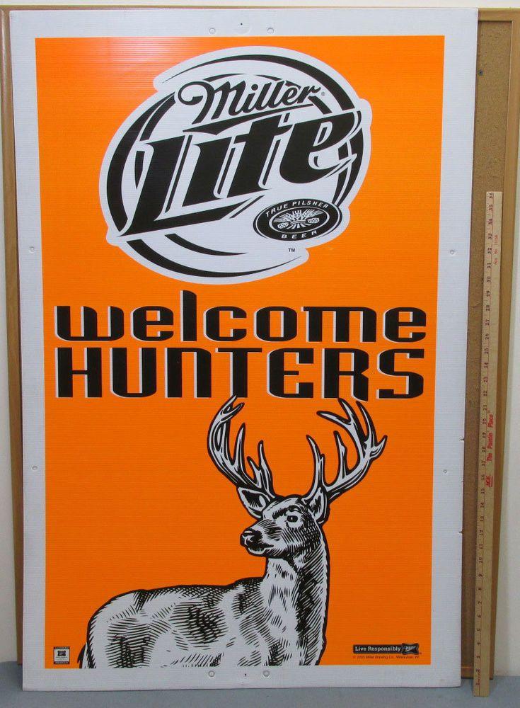 Miller Lite Beer Hunters Large Door Size