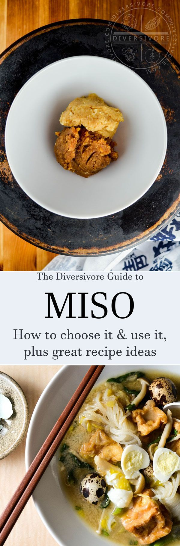 Diversivore's comprehensive guide to miso, covering a wide range of varieties and types, plus tips on finding, choosing, and using it.