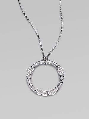 david yurman / diamond and sterling silver necklace: Davidyurman