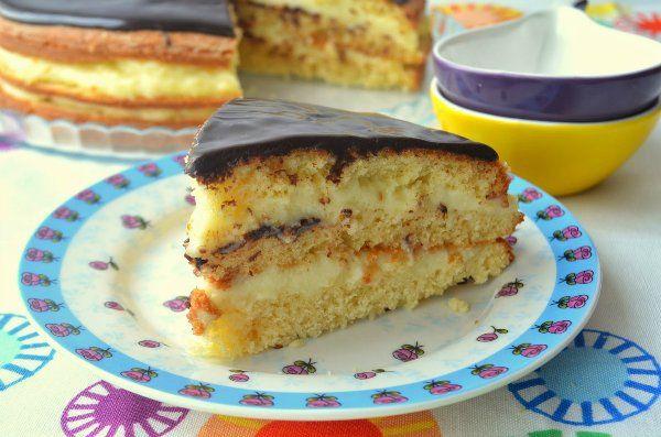 Бостонский кремовый торт или пирог