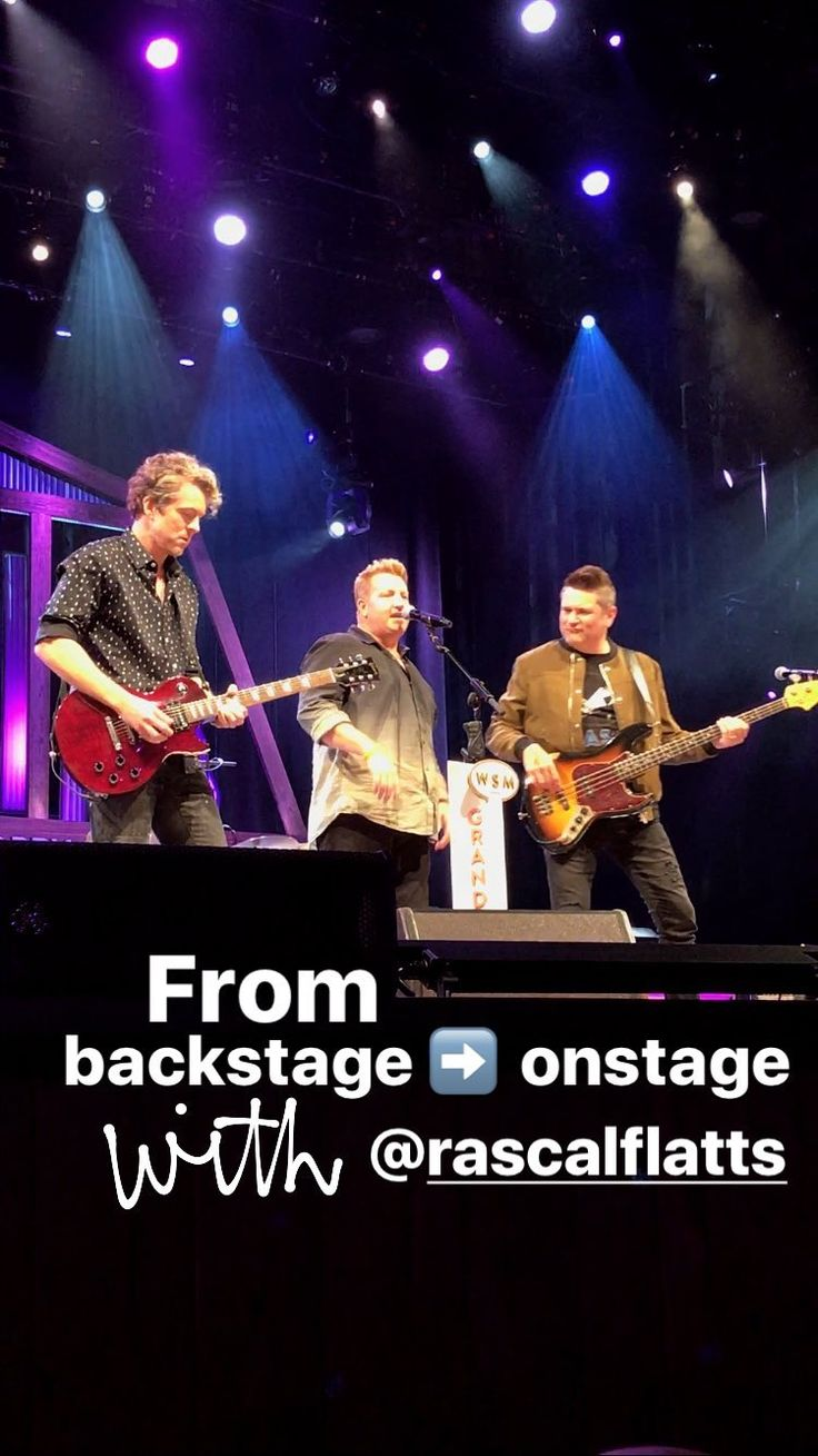 Rascal Flatts at the Grand Ole Opry 8/29/17