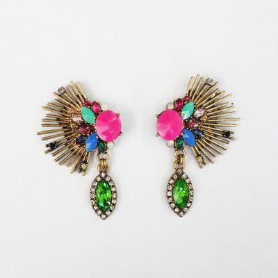 Redcurrent Elaborate Fluoro Pink Earrings $34.90.