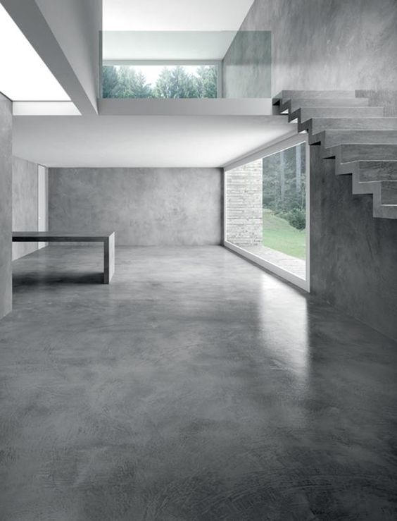 Concrete architecture space PAVIMENTI E PARETI IN CEMENTO:
