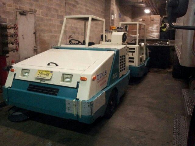 Barredoras Tennant 800 en el Port Authority Bus Station de Manhattan - Nueva York