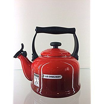 Le Creuset Traditional Kettle with Whistle, 2.1 L - Cerise