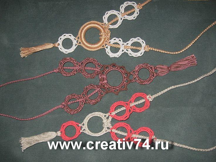 Украшения из хлопка и льна - ожерелье, связанные крючком. Jewellery from cotton and linen  necklace, crochet.