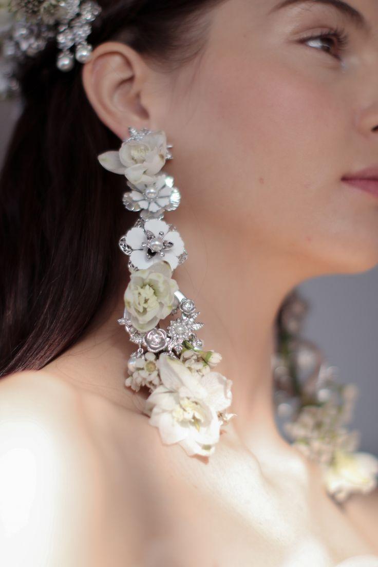 Fresh Flower Bridal Earrings