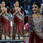 Aishwarya Rai In Manish Malhotra Lehenga At ISL Opening
