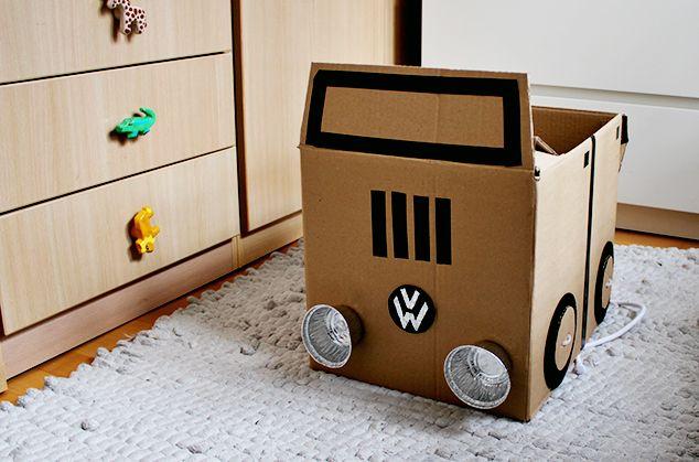 Maternidad: juguetes caseros de cartón