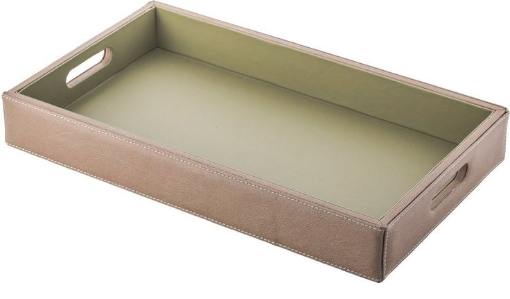 "Leather Tray Hotel Guestroom Equipments 20"" X 13"" X  2,7"""
