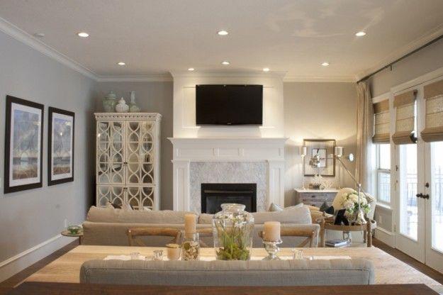 Colori pareti soggiorno tinte pareti pinterest - Living room layout with tv over fireplace ...