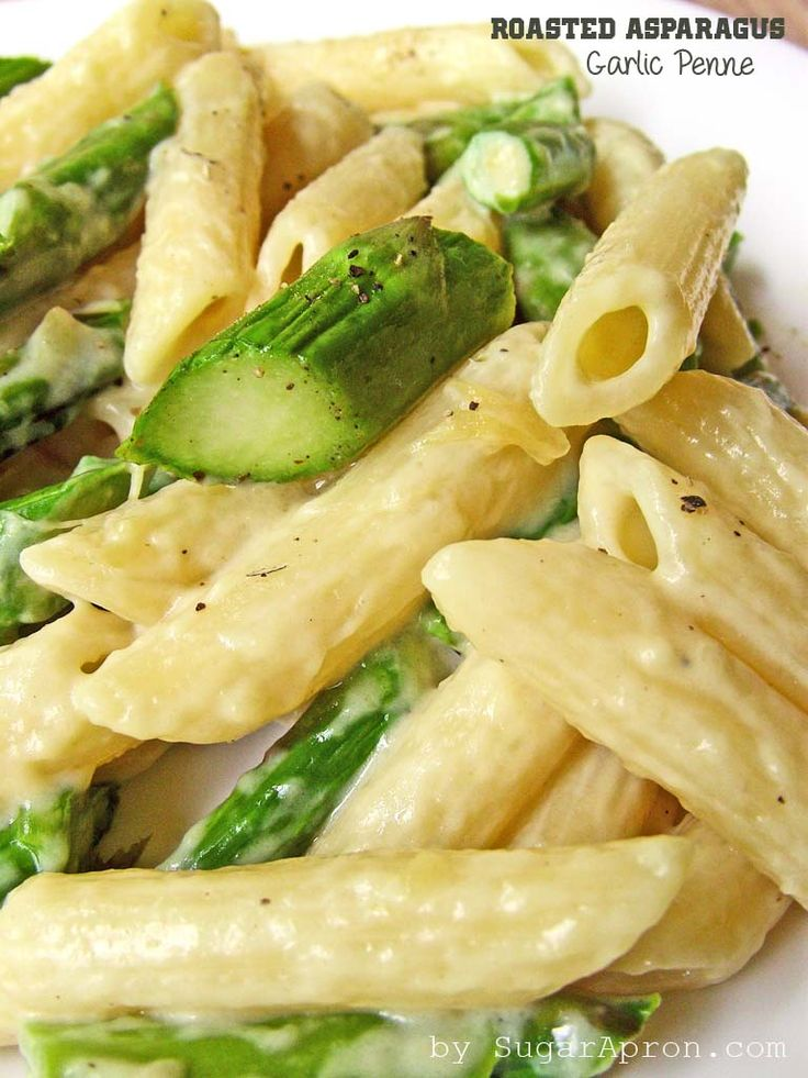 Roasted Asparagus and Garlic Penne Pasta