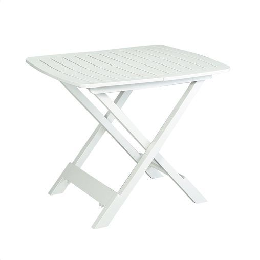 Τραπέζι Tevere από πλαστικό σε χρώμα λευκό Μ 79 x Π 72 x Υ 70 cm
