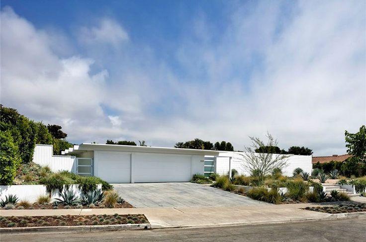 white mid century modern home. c1962