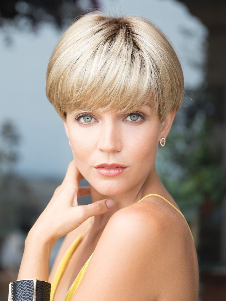 Blonde With Bangs Short 6″ Wefted Cap Wigs
