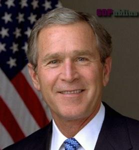 George W. Bush  Amazing how many Presidents are left handed...Bush Clinton Bush and Obama!