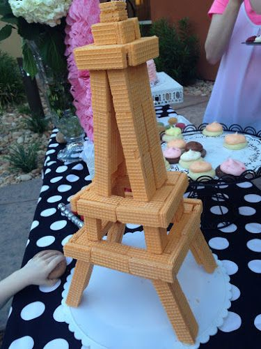 Eiffel towers, Wafer cookies and Towers on Pinterest