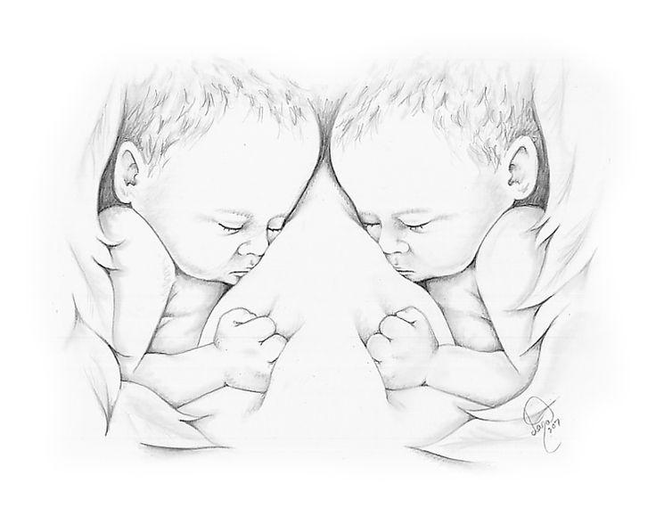 Картинки близнецов мальчиков нарисованные, сделать детьми новогоднюю