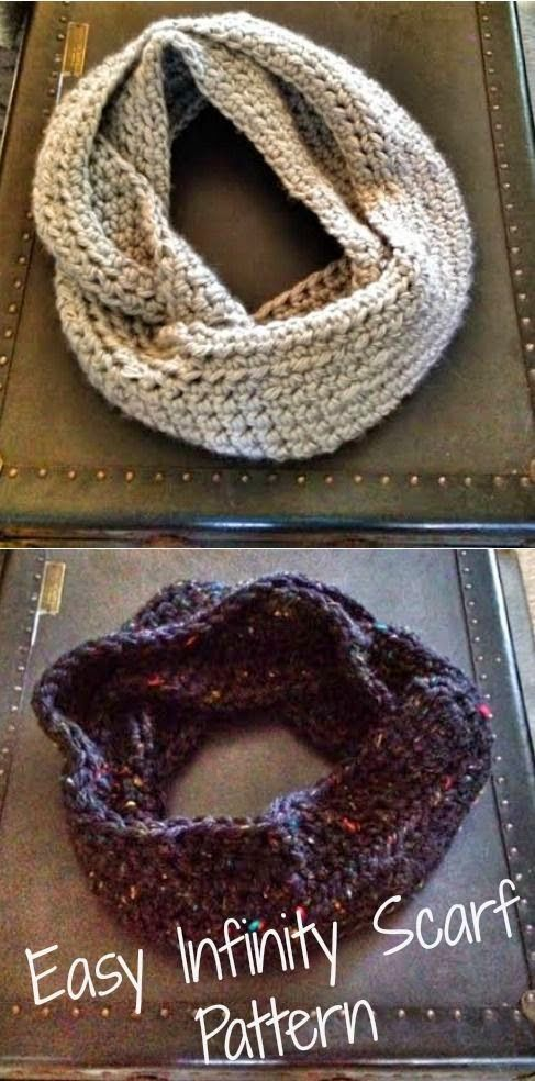 Easy Infinity Scarf Pattern - Love this pattern!
