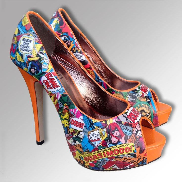 Womens Marvel Comic Customised Shoes