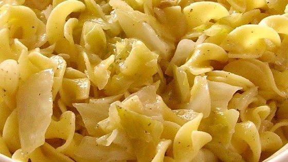 A simple side dish of baked noodles and cabbage is ready in less than an hour.