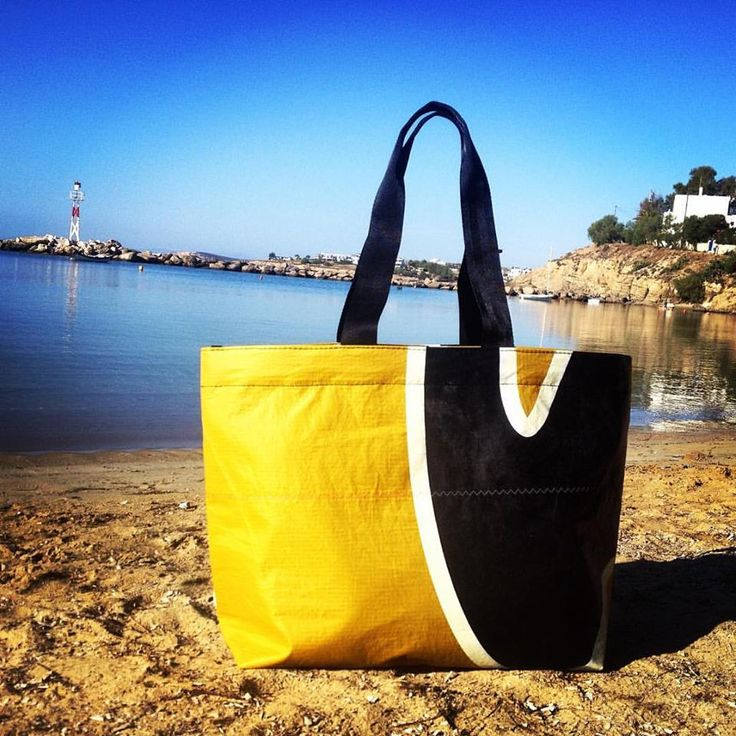 Just in time for summer the Sea Breeze Beach Bag made of reused kite sail. Now available @ Paros Surf Shop. #thinksea #beachbags #unique #handcraft #used #reused #recycle #upcycling #upcycled #urban #customize #parosurfclub #parosurfshop #tserdakia #paros #summer #colorful #shopping #madeingreece #windsurfing #sails #kiteboarding