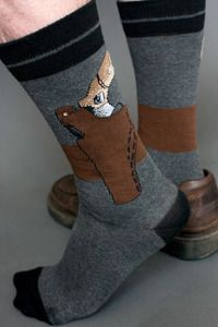 Revolver at the ready, a clever faux ankle holster and gun knit into the side of the sock means that you'll always be armed, even if you can't draw first.