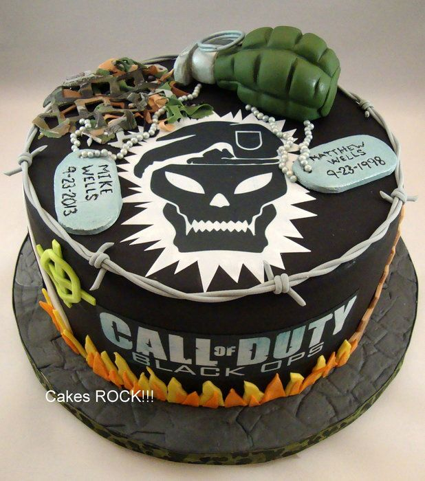 Call of Duty/Black Ops Birthday Cake - by CakesRock @ CakesDecor.com - cake decorating website